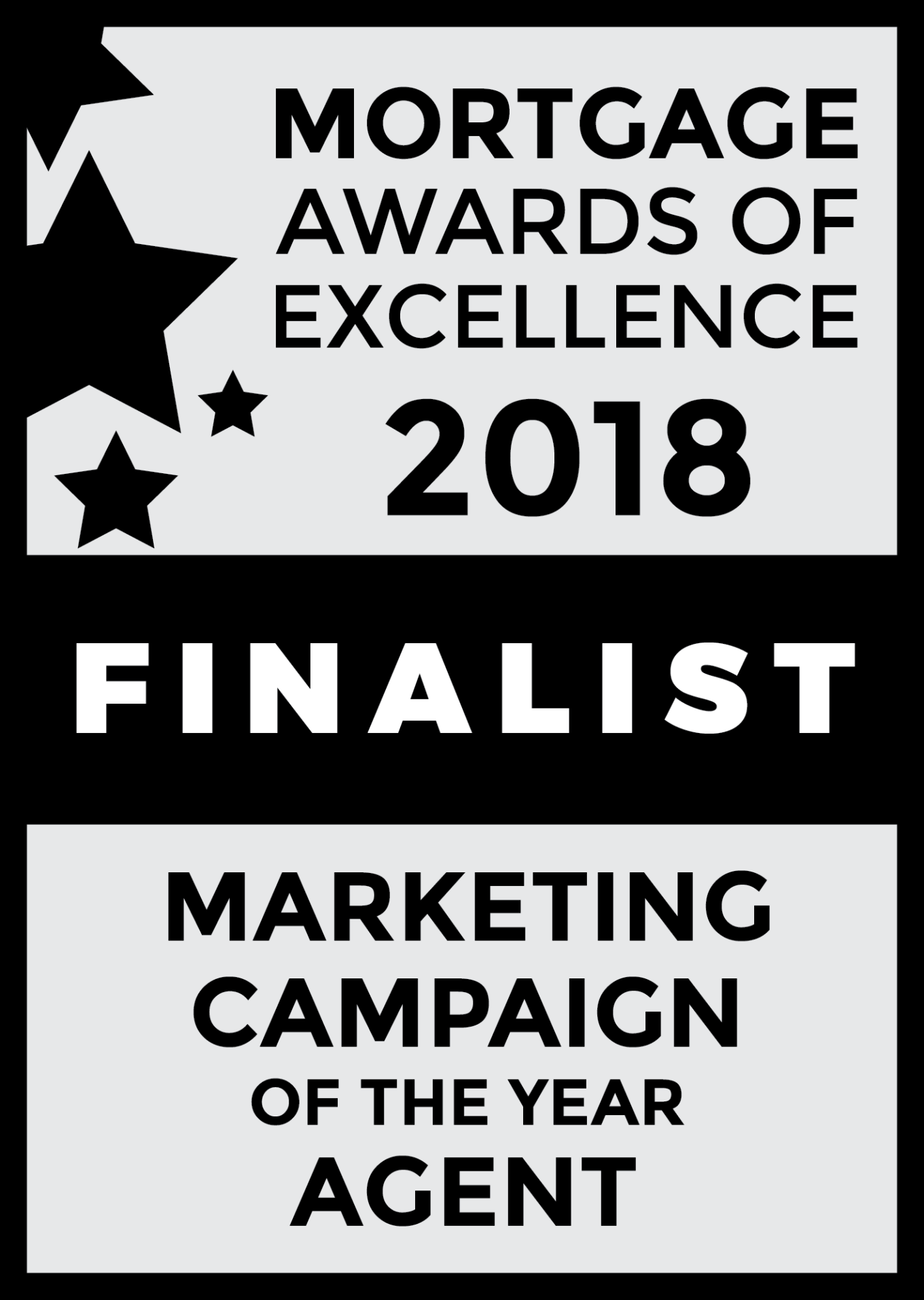 Steve Garganis Marketing Campaign of the Year Badge - Mortgage Awards of Excellence 2018