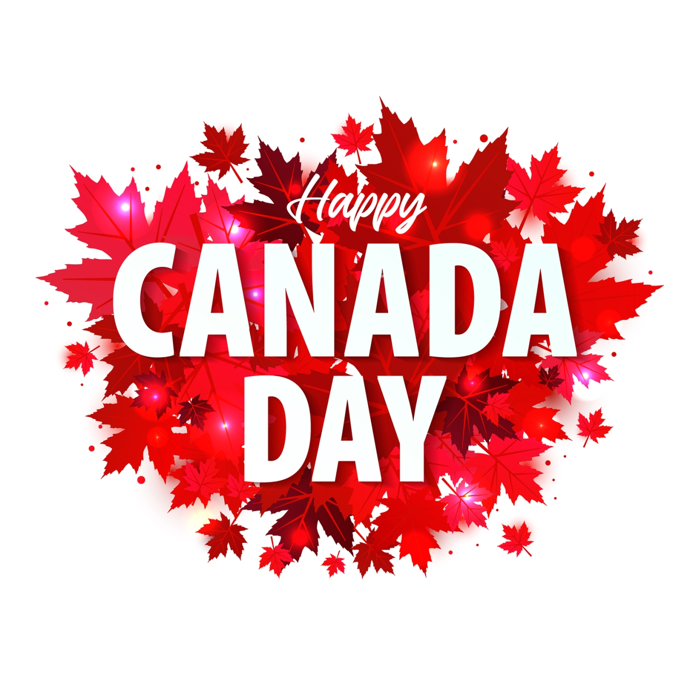 Happy Canada Day Poster. 1st July. Illustration Greeting Card Wi